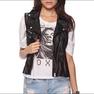 Forever 21 Other - Vegan Leather Studded Vest